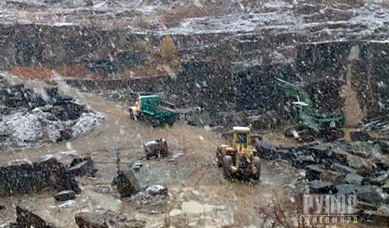 На Житомирщині виявили масштабний незаконний видобуток граніту габро. ФОТО