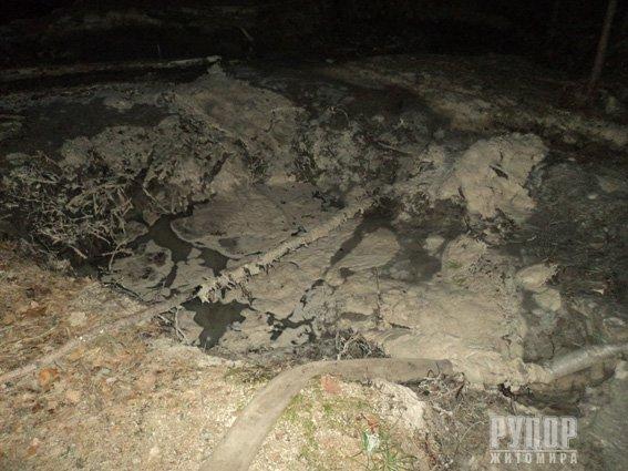 На Житомирщині затримали нелегального бурштиношукача. ФОТО