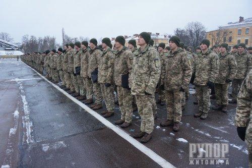 Наталія Чиж привітала курсантів Житомирського військового інституту з Днем Збройних Сил України