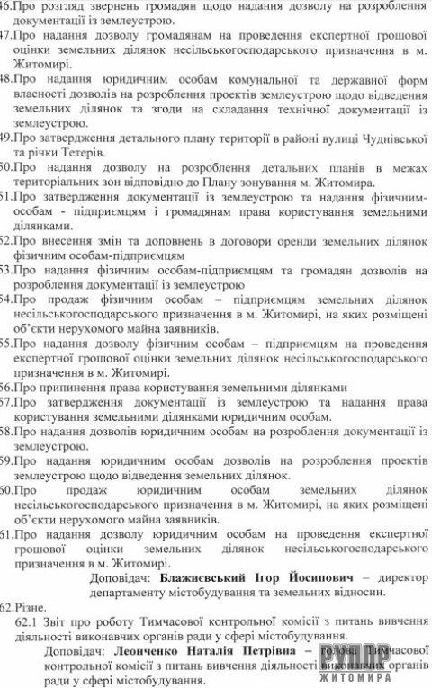 Мер Житомира скликає на 18 грудня сесію