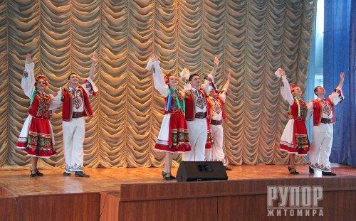 У ГУНП Житомирщини учасників бойових дій привітав Академічний ансамбль пісні і танцю Нацгвардії України