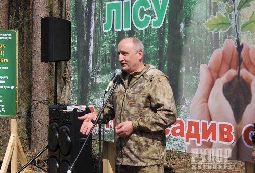 Голова обласної ради долучився до посадки нового лісу