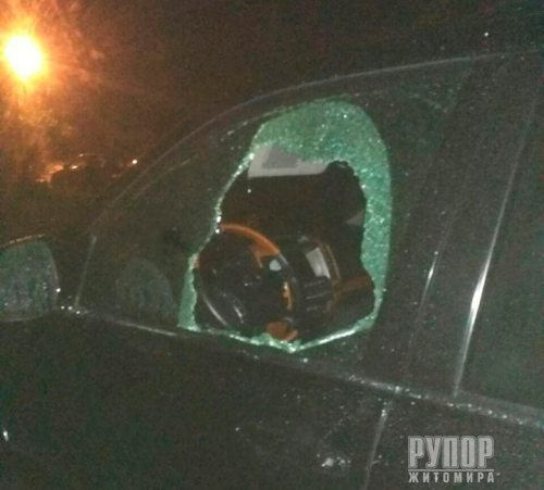 У Житомирі вночі чоловік розбив скло в кількох автомобілях та викрав з них речі. ФОТО