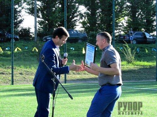 У Станишівській ОТГ відкрили вже третє футбольне поле зі штучним покриттям