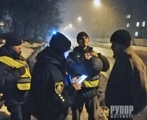 На Чуднівщині поліція та нацгвардійці провели профілактичне відпрацювання