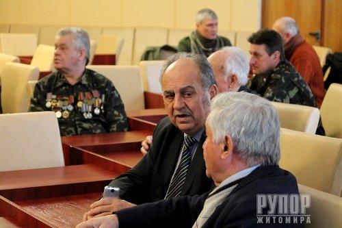Володимир Ширма зустрівся з активом ветеранів афганської війни