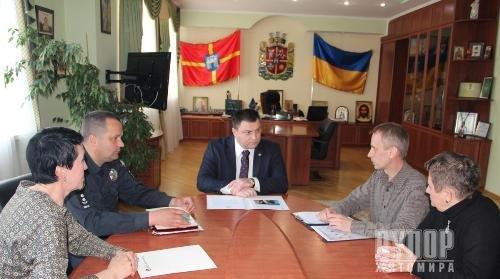 Керівник поліції Житомирщини зустрівся з представниками Корпусу Миру