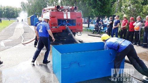 Переможцем завершального третього дня Чемпіонату області з пожежно-прикладного спорту став 37 ДПРП м. Коростень