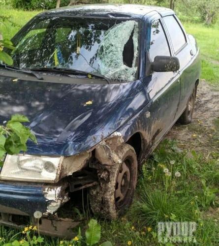 На Олевщині поліція встановила водія, який травмував велосипедиста і зник з місця пригоди