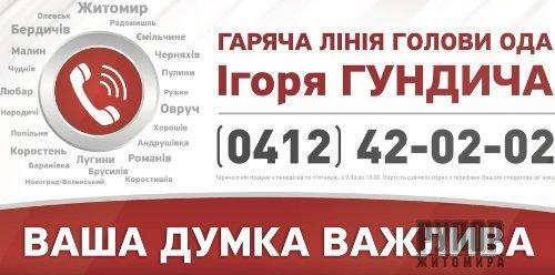 Для жителів області продовжує працювати «гаряча лінія» Ігоря Гундича