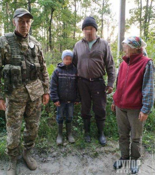 На Житомирщині в лісі неподалік держкордону знайшли дитину. ФОТО