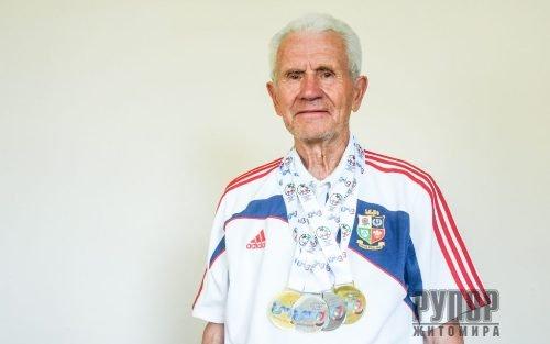 Вік – не перешкода: житомирський 86-річний спортсмен привіз 4 нагороди з Європейських Ігор