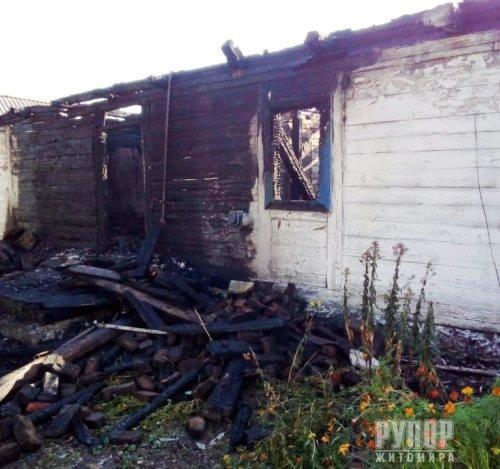 В Житомирській області на пожежі виявили тіло жінки