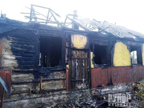 На Житомирщині під час пожежі в будинку господар отримав опіки тіла