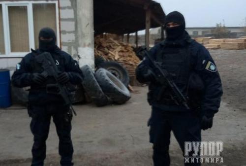 В Олевському районі — масштабні обшуки на нелегальних пилорамах. ФОТО