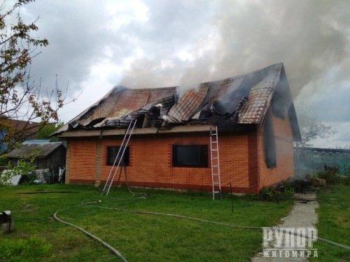На Житомирщині горіла лазня