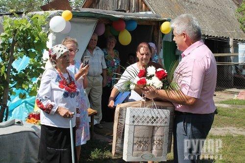 Жителька села Ходорків, що на Попільнянщині, зустріла свій віковий ювілей