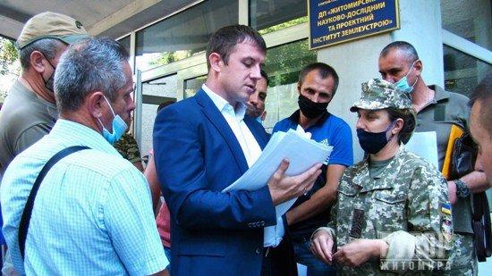Учасники бойових дій отримали накази щодо відведення земельних ділянок у Житомирській області
