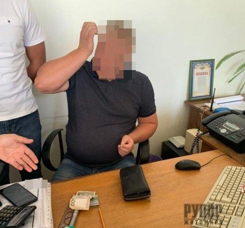 На Житомирщині затримали ще одного високопосадовця хабарника