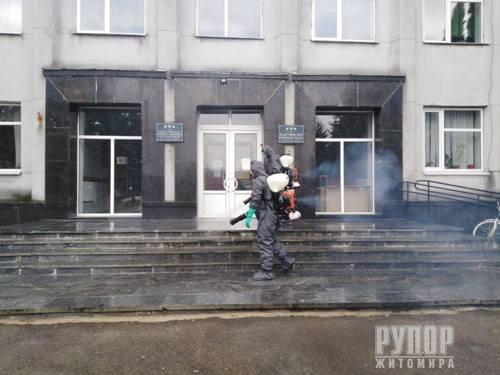 В Житомирській області за минулу добу рятувальники продезінфікували п'ять об'єктів різного призначення
