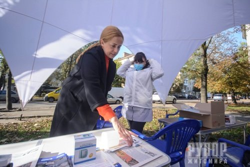 У Житомирі можна пройти ранню діагностику коронавірусу, проєкт запустила Людмила Зубко