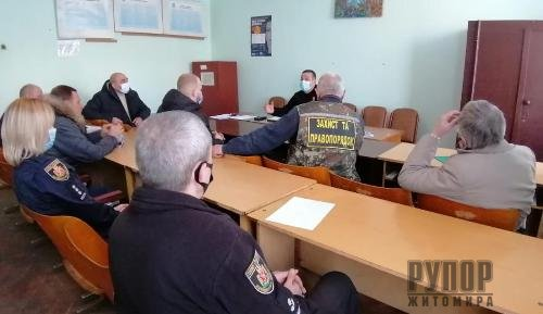 Бердичівські поліцейські зустрілися із керівниками громадських формувань району