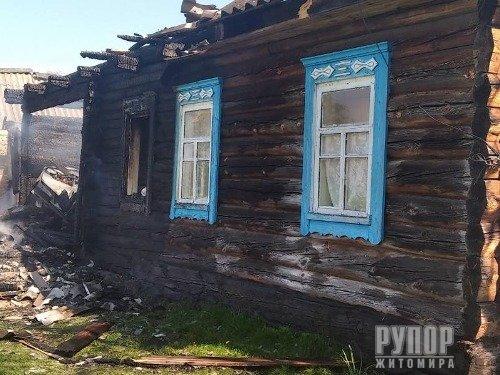 На Житомирщині під час пожежі вибухнув газовий балон