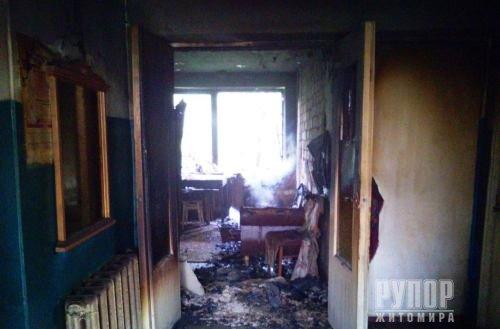 Під Житомиром у палаючому будинку виявили тіло чоловіка