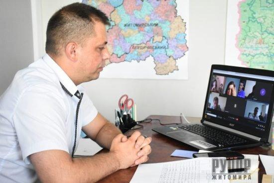 Юрій Оханський провів онлайн-нараду щодо вакцинації працівників закладів освіти Житомирської області